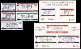 ** Mexico - 1966 - Olympic Games 1968 - Mi. 1214-8, Bl. 5-6 - Estate 1968: Messico