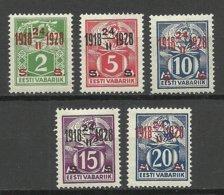 Estland Estonia 1928 Michel 68 - 72 * - Estonia
