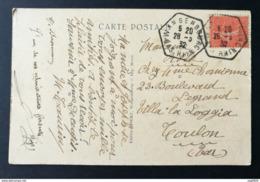 Carte Avec Cachet Hexagonal De Wangenbourg Bas Rhin - Postmark Collection (Covers)