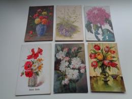 Beau Lot De 60 Cartes Postales De Fantaisie  Fleurs Fleur   Mooi Lot Van 60 Postkaarten  Bloemen Bloem - 5 - 99 Postcards