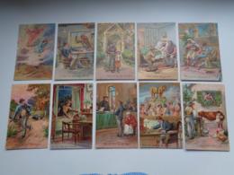 Beau Lot De 10 Cartes Postales De Fantaisie  Gaufrée  Prière    Mooi Lot 10 Postkaarten Fantasie Reliëf Gebed 10 Geboden - Postkaarten