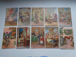 Beau Lot De 10 Cartes Postales De Fantaisie  Gaufrée  Prière    Mooi Lot 10 Postkaarten Fantasie Reliëf Gebed 10 Geboden - 5 - 99 Cartes