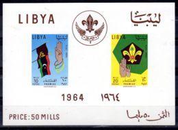 24.7.1964;; LIBYE; Journée Des Scouts, YT Bloc No. 7, Neuf **, Lot 52132 - Neufs