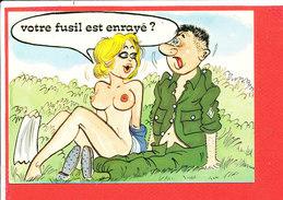 MILITAIRE Femme Nu  Cpm Humour  Fusil Enrayé 912 / 4 Edit Lyna - Humor