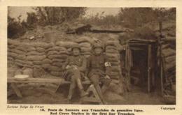 Militaria Secteur Belge De L' Yser Poste De Secours Aux Tranchées De Première Ligne RV - Guerre 1914-18