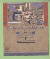 Jouy, Eure Et Loire : Publicité De L'Hôtel Providence. TBE. 2 Scans. - Documentos Antiguos