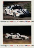 SPORT AUTOMOBILE - Equipage Fassio / Eustaquio  PORSCHE GT 3  Vainqueur Coupe De France GT 2008 - 2 CP - Rally Racing