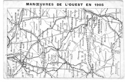 MANOEUVRES DE L'OUEST EN 1905 - Maniobras
