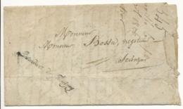 HAUTE SAVOIE LETTRE DFT 1826 BONNEVILLE CONTRESEING L'INTENDANT DU FAUCIGNY - Poststempel (Briefe)