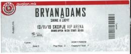 Music - Bryan Adams - Concert Ticket Skopje - Biglietti Per Concerti