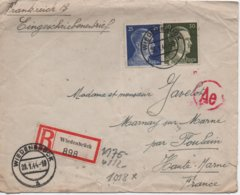 ENVELOPPE  DEUTSCHES REICH  RECOMMANDE  WIEDENBRUCK  1944 - Lettres & Documents