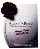 Etiket Etiquette Sticker Zelfklever - Vin - Wijn - Savigny Lès Beaune - François Xavier Delorme - Bourgogne
