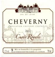 Etiket Etiquette Sticker Zelfklever - Vin - Wijn - Cheverny - 2012 - Etiquettes