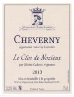 Etiket Etiquette Sticker Zelfklever - Vin - Wijn - Cheverny - 2013 - Le Clos De Nozieux - Etiquettes