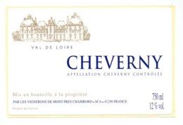 Etiket Etiquette Sticker Zelfklever - Vin - Wijn - Cheverny - Etiquettes