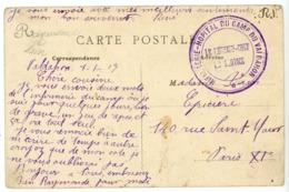 DOUBS CP 1917 INFIRMERIE HOPITAL DU CAMP DU VALDAHON - 1877-1920: Periodo Semi Moderno