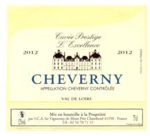 Etiket Etiquette Sticker Zelfklever - Vin - Wijn - Cheverny 2012 - Etiquettes