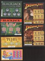 Tickets à Gratter  - LOTERIE NATIONALE Du LUXEMBOURG - 6 SPECIMENS - Billets De Loterie