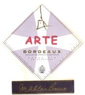 Etiket Etiquette Sticker Zelfklever - Vin - Wijn - Bordeaux - ARTE - Mähler Besse - Bordeaux