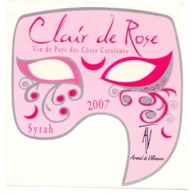 Etiket Etiquette Sticker Zelfklever - Vin - Wijn - Clair De Rose 2007 - Pays Des Cotes Catalanes - Etiquettes