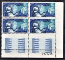 MONACO 1966 -  N° 687 EN BLOC DE 4 TP COIN DE FEUILLE / DATE - NEUFS** - Mónaco