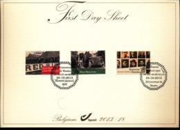 BELGIUM COB 4377/4379 FDS 2013 18 - FDC
