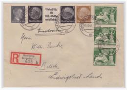Dt- Reich (004890) Einschreiben Mit Zusammendruck W92 * MNR 513,781, 817 Gelaufen Von Hamburg Nach Belsch Am  19.10.1942 - Se-Tenant