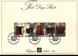 BELGIUM COB 3611/3615 FDS 2007 04 - FDC