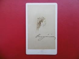 AUTOGRAPHE IMPERATRICE EUGENIE CDV LE JEUNE PHOTOGRAPHE DE S A LE PRINCE IMPERIAL - Handtekening