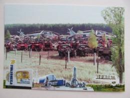 Ukraine Chernobyl (Chornobyl) Pripyat Nuclear Power Plant. Helicopter Cemetery - Hubschrauber