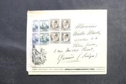 ESPAGNE - Enveloppe Commerciale De Barcelone Pour La Suisse En 1937 Avec Censure, Affranchissement Plaisant - L 48111 - Republikanische Zensur