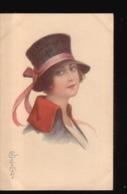LOT//029.....5 CPA ILLUSTRATIONS FEMMES - 5 - 99 Cartes