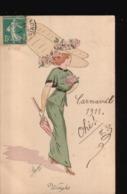 LOT//030.....5 CPA ILLUSTRATIONS FEMMES - 5 - 99 Cartes
