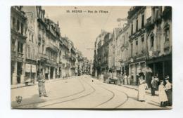 CPA  51 : REIMS  Rue De L'étape Animée    A  VOIR  !!!!!!! - Reims
