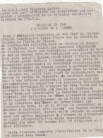 Rare Décision N°158 à L'ordre De L'armée Pour Le 1er Tabors Marocains - 1939-45