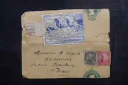 BRÉSIL - Entier Postal ( Bande Journal ) En Recommandé + Compléments De Rio De Janeiro Pour Paris +vignette - L 48116 - Enteros Postales
