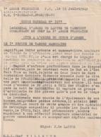 Rare Décision Ordre Général N°1077 Citation à L'ordre Du Corps D'armée Le 1er Groupe De Tabors Marocains - 1939-45