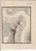 Très Rare Carte Ancienne Faite à La Main Avec Tampon Filigrané 21 X 29.7 Cm - Other