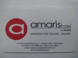 Indonesia Hotel Key,Amaris Hotel By Santika , Jakarta (1pcs) - Hotelkarten