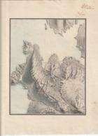 Très Rare Carte Ancienne Faite à La Main Avec Tampon Filigrané 21 X 29.7 Cm - Maps