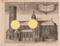 GENT GAND  Gravure Originale De Devel  Cathédrale St BAVON Vers 1750  RARE - Documents Historiques
