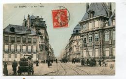 CPA  51 : REIMS  Rue Thiers Animée   VOIR  DESCRIPTIF  §§§ - Reims
