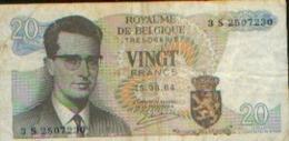 BELGIQUE 20 Francs 1964 - [ 2] 1831-... : Reino De Bélgica