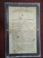 Oorlog 1914-1918  Gebroeders Marcel & Cyriel Loonis Geboren Te Reninghe Overleden Voor Het Vanderland  1917  (2scans) - Godsdienst & Esoterisme