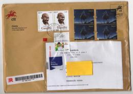 Registered Letter From Portugal To Russia 2019  Mahatma Gandhi Cristmas Post - Mahatma Gandhi
