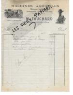 61 - Orne - PERVENCHERES - Facture TOUCHARD - Machines Agricoles, Quincaillerie - 1935 - REF 126 - 1900 – 1949