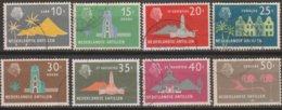 Antille Olandesi 1958 Selezione 8v (o) - Curaçao, Antille Olandesi, Aruba