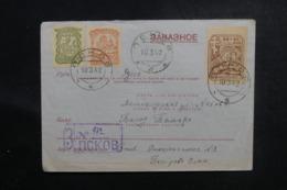 U.R.S.S. - Enveloppe En Recommandé De Pleskau En 1942 , Affranchissement Et Oblitération Plaisants - L 48125 - 1923-1991 USSR
