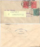 GRANDE-BRETAGNE PERFORÉ PERFIN C CROSFIELD TàD DUPLEX WARRINGTON  FE 23 03 - 23-02-1903 - Perforés