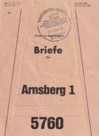BUND 1983  ETIQUETTE DE SAC POSTAL DE WINTERBERG - [7] République Fédérale